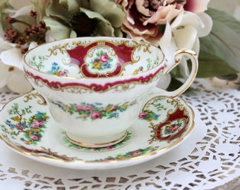 English Teacup Set, Foley Bone China Teacup, Tea Cup and Saucer Set, Made in England, c1936, Vintage Tea Party