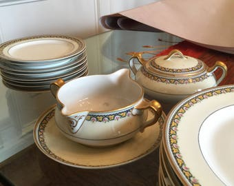 French Vintage Limoges Harland dishes