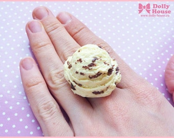 Very Realistic ice-cream scoop Ring by Dolly House