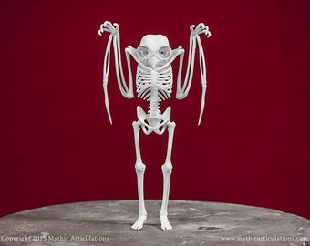 Mothman Skeleton 3D Print Taxidermy Sculpture