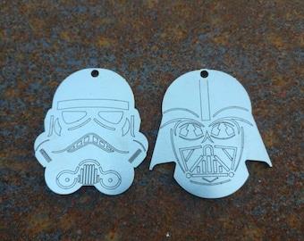 Star Wars Darth Vader and Stormtrooper Keychains