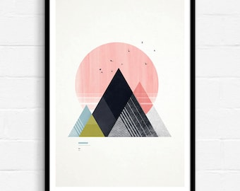 Geometric Poster, Abstract Wall Art, Geometric Wall Art, Modern Abstract Art, Graphic Design Print, Contemporary Art, Abstract Geometric