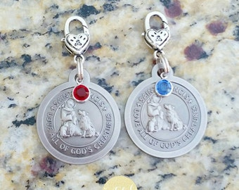 St. Francis of Assisi Medal, St. Francis of Assisi, Patron Saint of Animals, St. Francis Pet Charm, Pet, Pet Charm, Pet Lover