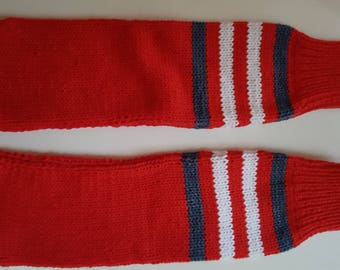 Hand knitted Red Socks for supporting t 4t
