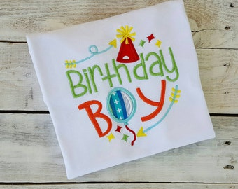 Birthday Boy Shirt, Sample Sale, Custom, personalized, MATCHING SIBLING, First second third fourth birthday shirt, party, embroidered