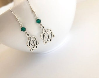 Dangle Earrings Celtic Knot