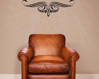 Scroll Vine Curls Vinyl Sticker Art Wall Art Decals For Kitchen Home Decor - WD742