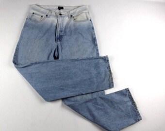 90s Tommy Hilfiger Straight Leg Ombre Wash Hip Hop Denim Jeans Pants Mens 33x32, Vintage Tommy Hilfiger Jeans, 90s Tommy Jeans, Blue Jeans