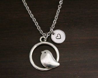 Bird Necklace - Bird Lover Necklace - Simple Bird Necklace - Aviary Necklace - Aviarist Gift - Bird Watcher Gift - I/B/H