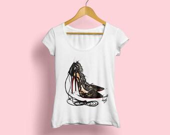 Fashion Tshirt, Heels Tshirt, High Heels Tshirt, Fashion shirt, Womens Fashion Tee, Heels Fashion Tee, Fashionista Tshirt, Girls Fashion Tee