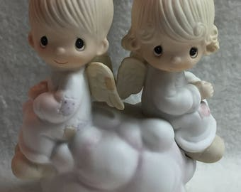 Enesco Jonathan and David - 'But Love Goes on Forever' Angels (#031)