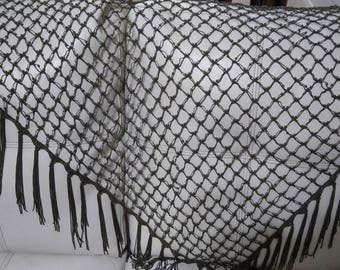 Vintage beaded womens shawl