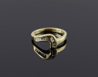 14k 0.25 CTW Diamond Baguette Weave Ring Gold
