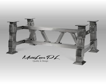 Industrial table base, Unique , Industrial interiors ,  DIY BRIDGE Industrial Table Base