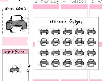 Kawaii Printer Planner Stickers | 062