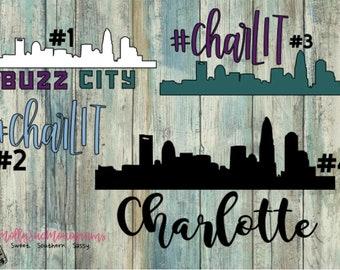 Charlotte vinyl decal