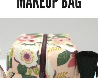 Blush Floral Cosmetic Bag, Blush Wedding Bridesmaids Gift Under 20, Pink Monogram Makeup Bag, Personalized Floral Cosmetic Case