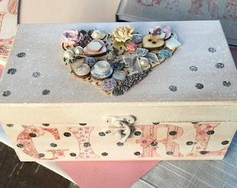 first birthday baby girl box gift keepsake box girl decorative box Nursery decor Girls Secrets Box First Tooth Memory Box Newborn girl gift
