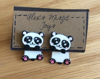 Kawaii Panda Clinging Earrings