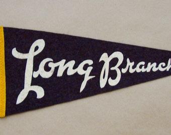Vintage 'Long Branch' Toronto Canada, Mini Pennant