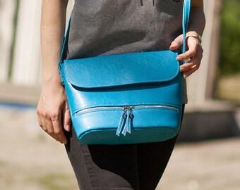 Turquoise crossbody bag Small purse Turquoise purse Handbag Gift for her Shoulder bag Crossbody purse Shoulder purse Blue purse Tote bag
