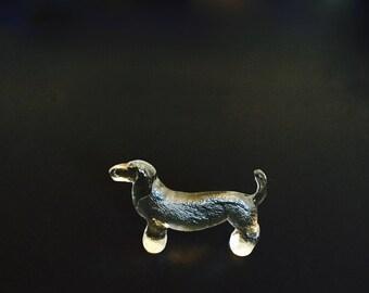 Kosta Boda Sweden Bertil Vallien Kennel Series Glass Dachshund Beagle Dog Figurine Paperweight desk decor