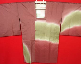 1st Anniversary Sale!! JN274 Vintage Japanese Coat For Kimono/For Women/ Some-Oshima / Silk (Oshima Tumugi) /Please check More Details
