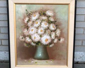 R Pasanault floral still life painting