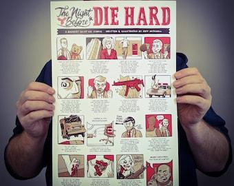 La nuit d'avant Die Hard affiche Design / / impression de Film d'Art comique 11 x 17