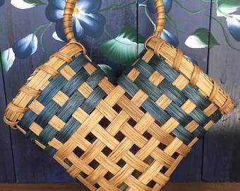Handmade Basket, Wall Basket, Elbow Basket, Hanging Basket, Made in USA