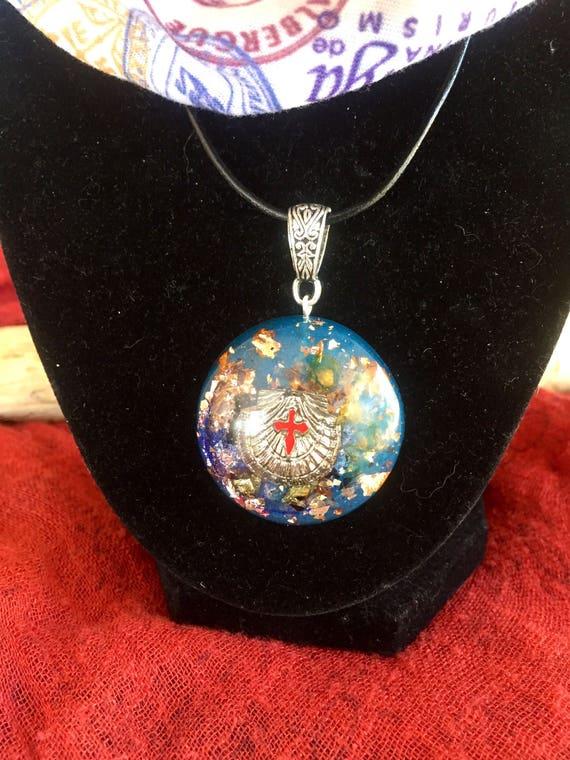 Buen Camino Pilgrim's Necklace- Camino De Santiago Orgonite®- The Way Jewelry- Pilgrim's Orgone Positive Energy Generator Pendant
