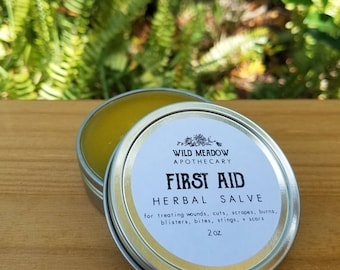 First Aid Herbal Salve | all purpose for cuts, wounds, bites, burns
