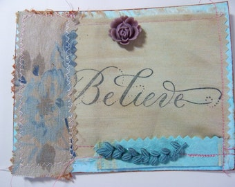 Index Cards, Stationary for Women, Gift Tags with String, Gifts for Her, Textile Art