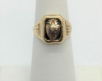 1944 14k Yellow Gold Class Ring Vintage Estate 4.4 grams Size 5