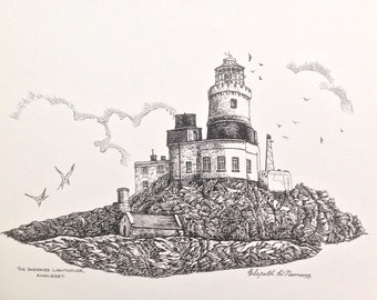 Skerries Lighthouse, Holyhead - Print