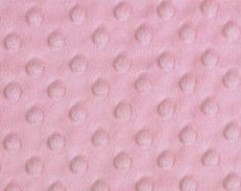 Minky fabric, velvet fabric pink Blush in coupon
