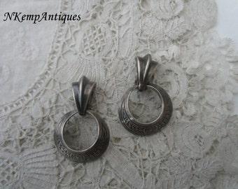 Vintage earrings clip ons 1930's