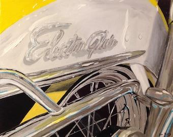 Harley Electra Glide Motorcycle Print of my Original Painting