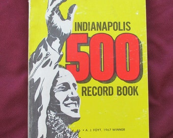 1968 Indianapolis 500 record book A J Foyt on cover