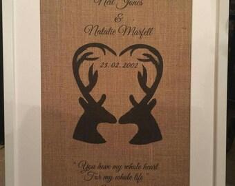 Personalised Wedding commemorative picture