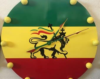 Large Rastafarian 420 clock
