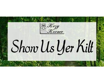 Show Us Yer Kilt Natural Soy Candle Book Inspired Outlander