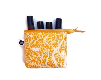 Yellow Essential Oil Pouch - Rainbow Essential Oil Bag - Small Roller Bottle Case - Essential Oil Storage - Oil Travel Bag - Doterra Bag
