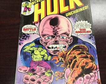 Vintage 1975 The Incredeible Hulk Unchained! No. 188