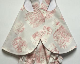 Bunny Pinafore and Matching Bloomers, Baby Dress, Sundress, Size 6 month