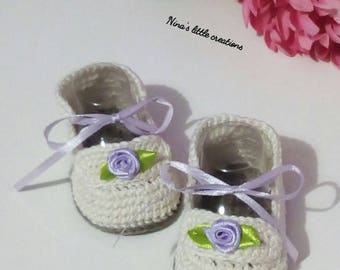 Knitted shoes with cotton yarn
