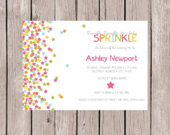 PRINTABLE- Confetti- Sprinkle Baby Shower Invite- Baby Shower Invite- Baby Shower Invitation- Sprinkle Invite- 5x7 JPG
