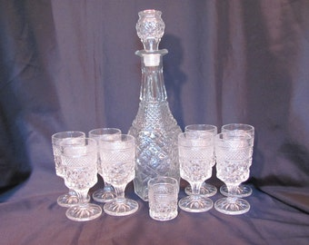 Anchor Hocking Wexford Decanter with Stemmed Goblet for Juice or Wine