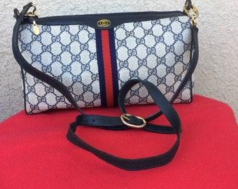 Authentic Vintage Gucci Supreme Web Monogram GG Leather Shoulder/Cross Body Bag