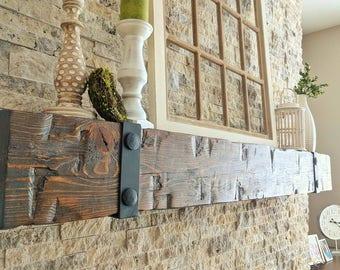 barn beam mantel 8 x 10 wooden mantel fireplace mantel fireplace - Barn Beam Mantel